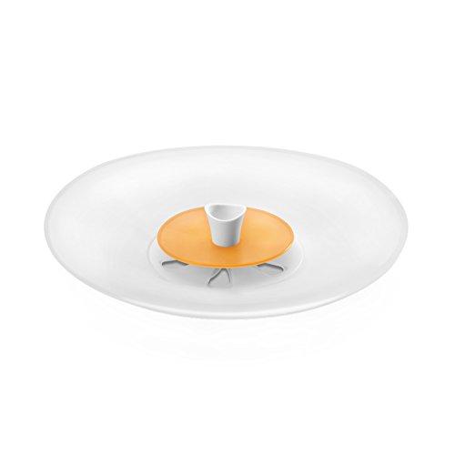 Metaltex 20660210080 Couvercle Anti-débordement, Silicone, Transparent/Jaune, 4 x 30 x 30 cm