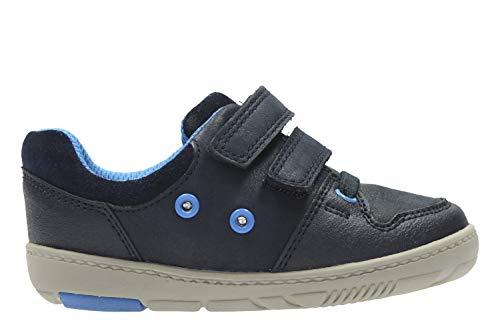 Clarks Tolby Boo, Chaussures Basses pour Garçon - Bleu - Bleu,