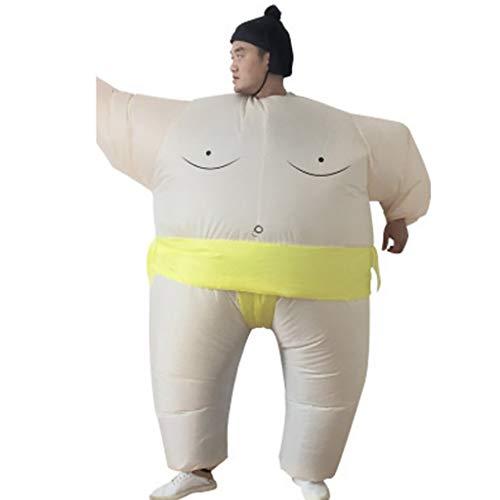 ZSH Halloween Aufblasbaren Sumo-Ringen Fett Kleidung, for Lustige Kostüme Halloween Neuheit, Geeignet for Höhe 150-200cm, 2 Farben (Color : B)