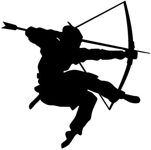 DIY pegatinas de pared pegatinas de personalidad creativa samurai calcomanía cartel japonés arte arco y flecha pintura 88x108cm