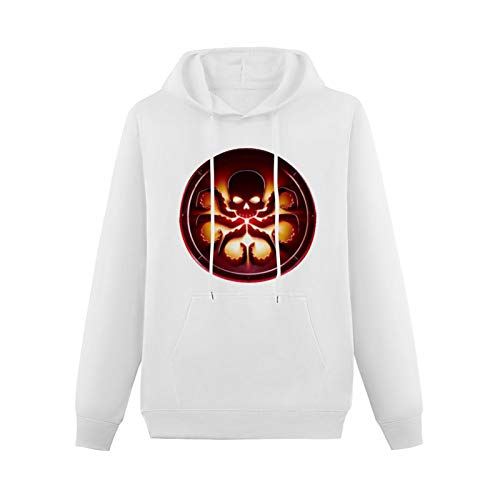 Teenager SweatshirtHoodie Agent of Shield Hydra Logo HoodedwithDrawstringPockets White XS