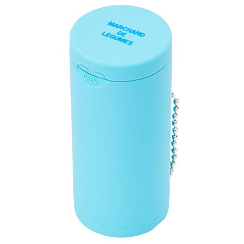 Dreams(ドリームズ) 携帯灰皿 ポケットアッシュトレイ ラバー ハニカム 6本収納 ライトブルー MDL45094 直径3.5×高さ7.8cm