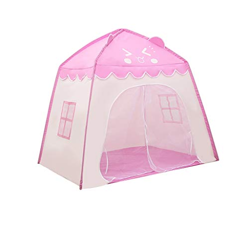 XZGang Children's Waterproof Tent, Camping Tent for Kids Baby Castle Tents Tale Tent for Girl Boy's Play Tents Toys Hut for Happy Childhood Children's space ( Color : Pink , Size : 130*100*130CM )