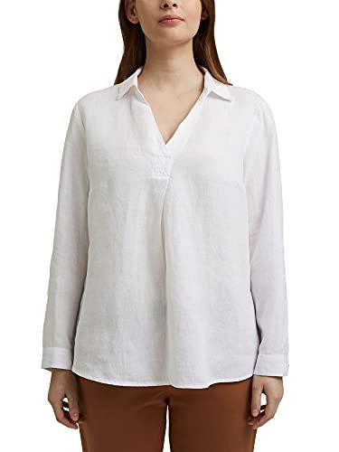 ESPRIT Curvy Tunika-Bluse aus 100% Leinen