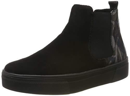 Remonte Damen R3171 Chelsea Boots, Schwarz (Schwarz/Blau-Camouflage/Black 02), 38 EU
