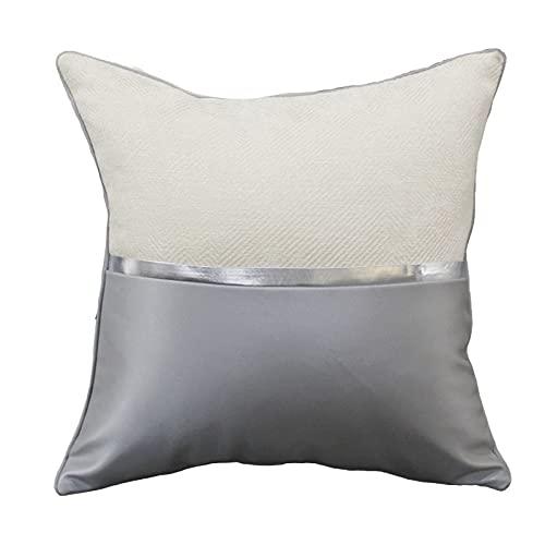 QXbecky Fundas de Cojines Funda de Almohada con Costuras de Cuero (sin núcleo) decoración de sofá Funda de Almohada de Microfibra Cama Cintura Silla Respaldo 60cm