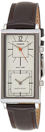 Casio Ltp-e151l-5b Reloj Analogico para Mujer Caja De Metal Esfera Color Beige