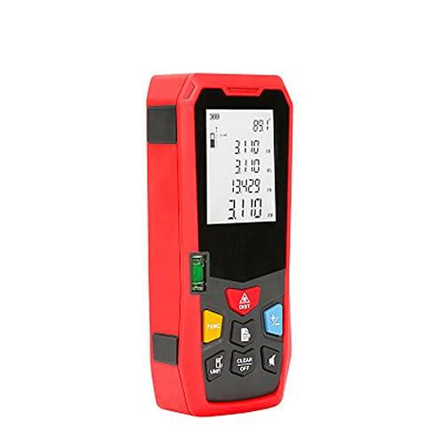 Metro Laser 100M/328 FT,Professional Distanziometro Laser,Misuratore Laser, portatile, strumento di misurazione laser digitale con impugnatura portatile, lunghezza, area, volume, precisione ± 2 (mm)