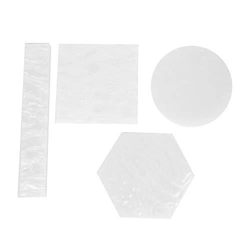 4Pcs Resin Nail Art Plate, Nail Polish Mixing Plate Painting Gel Color Dish Nail Manicure Drawing Display Board