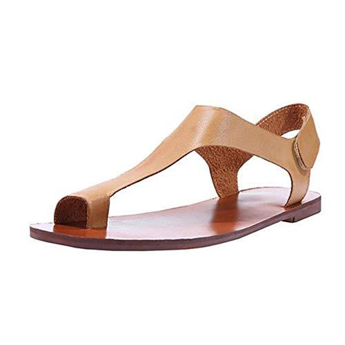 Sandalias de Mujer Clip Toe Casual Simple de Verano cómodo Romano al Aire Libre Beach Flip Flops