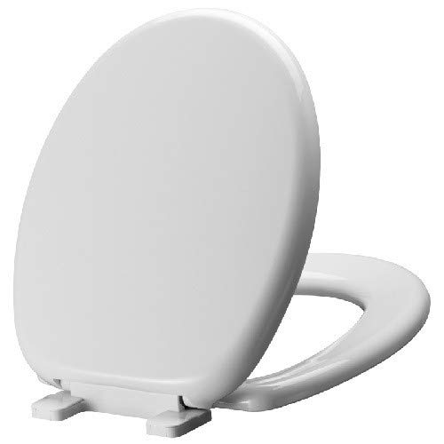 Mirabelle MIRTSSC100WH MIRTSSC100 Round-Front Slow-Close Toilet Seat with Lid