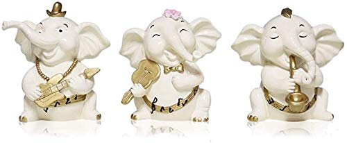 ZXL Home Decoration Sculptures Home Desktop Baby Olifant Ornamenten Lucky Lucky Olifant Woonkamer TV Kast Veranda Kamer Ambachtelijke Meubels (Kleur: Wit)