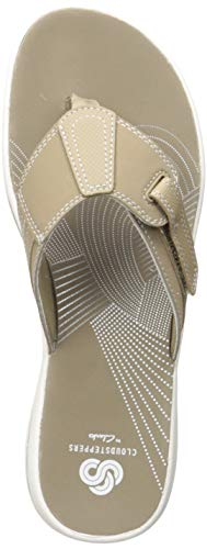 Clarks Women's Brinkley Sail Flip-Flop, Taupe Synthetic, 100 M US