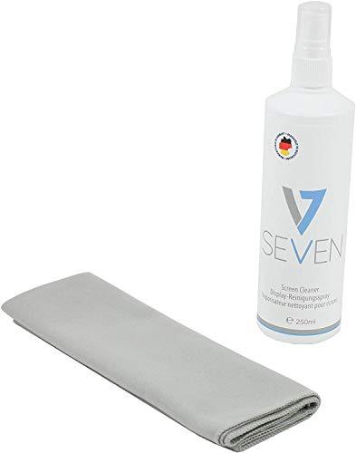 V7 VCL1623 Reinigungs Set 2 teilig für Displays (250ml Reiniger, 40x40cm Mikrofaser Tuch)