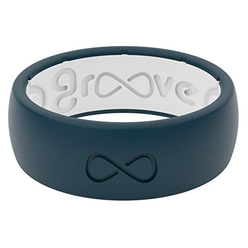 Groove Life Silicone Wedding Ring for Men - Breathable Rubber Rings for Men,...