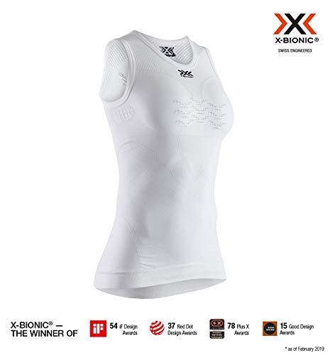 X-Bionic Energizer 4.0 Light Singlet Women, T Shirt Donna, Arctic White/Dolomite Grey, S