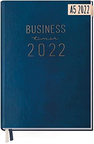 Chäff Business-Timer 2022 A5 [Nachtblau] 1 Woche 2 Seiten | Terminplaner, Wochenplaner, Wochenkalender, Organizer, Terminkalender für perfektes Zeitmanagement | nachhaltig & klimaneutral