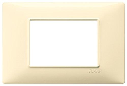 Vimar 14653.04 Plana Placca 3 Moduli in tecnopolimero, Crema