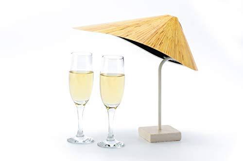 TableSol® Mini Sonnenschirm - Hawaii (Weiß)