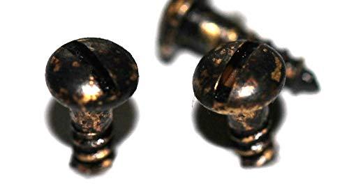 Messing Schrauben brüniert, DIN 96, 3 x 10 mm, 20 Stück