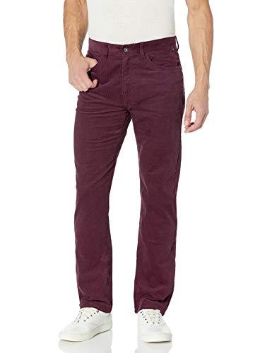 Nautica Pantalon en velours côtelé extensible à 5 poches pour homme. - rouge - 32W x 32L