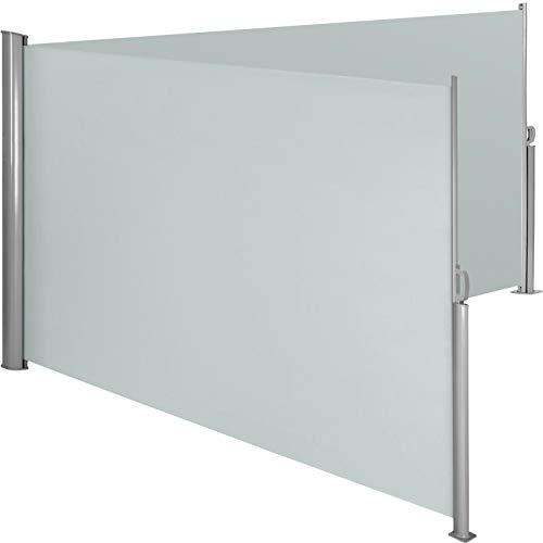 BJYX Alu Doppel Seitenmarkise Sonnenschutz Sichtschutz Windschutz Terrasse grau (Color : Grau, Size : 180 x 300 cm)