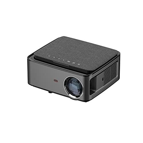 ZEMENG Proyector HD, Mini proyector portátil 3D, Pantalla de Alta Potencia de 1080p y 170 ', Alta Altavoz de Alta fidelidad, Cine en casa con Interfaz AV de TV USB HDMI y Control Remoto