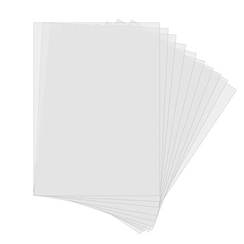10 Stück Kunststoff-Schablonenblätter DIN A4 Mylar-Blätter Halbtransparente Folie zum Schneiden von DIY-Schablonen (30.5x21.7cm) 6 Mil