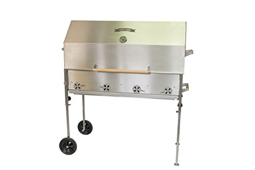 31Il1pGq91L - Profi-Grill PG 1000 Catering, Gastrogrill Edelstahlgrill Holzkohlegrill Hendlgrill Steckerlfisch Feuerstelle Nirosta V2A