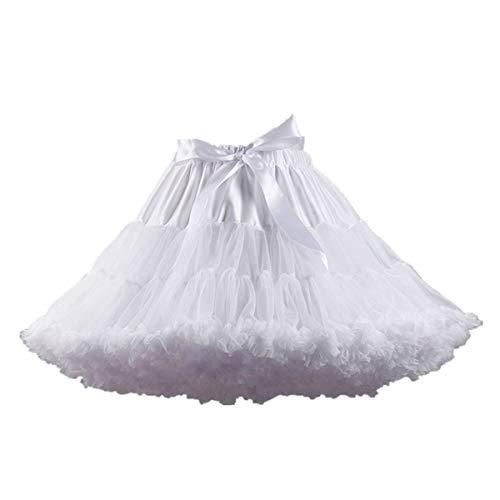 Amosfun Frauen Tutu Rock Kleid Pettiskirt Petticoat Ballett Rock Kleid