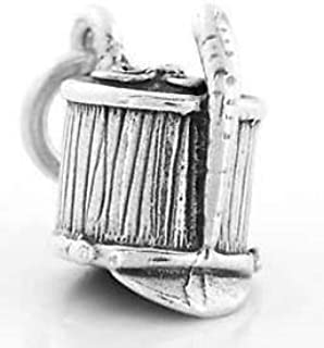 Sterling Silver Marching Band Hat Shako Charm Pendant (3D Charm) Jewerly Making Supply Bracelet DIY Crafting by Easy to be happy!