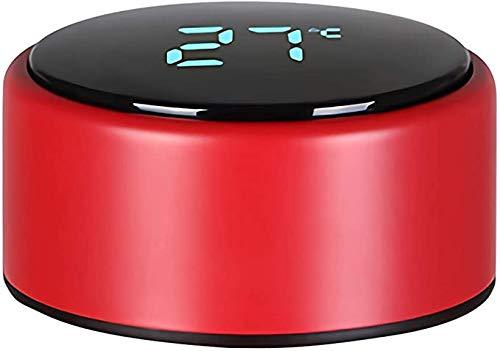 Tumeiguan Tazza da viaggio, thermos da 500 ml, in acciaio inox, con schermo LED tattile intelligente con temperatura, a doppia parete, isolato sottovuoto, coperchio rosso #7