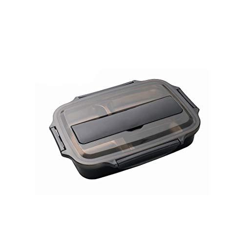 JYDQM Fiambrera para niños con Compartimento Caja Bento de Acero Inoxidable Contenedor de Comida a Prueba de Fugas Vajilla