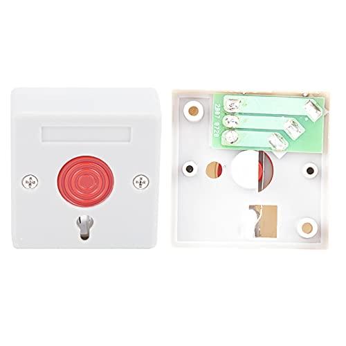 Interruptor de botón, botón de reinicio de llave Interruptor de botón de reinicio con llave para la mayoría de las personas para varios hospitales y tiendas