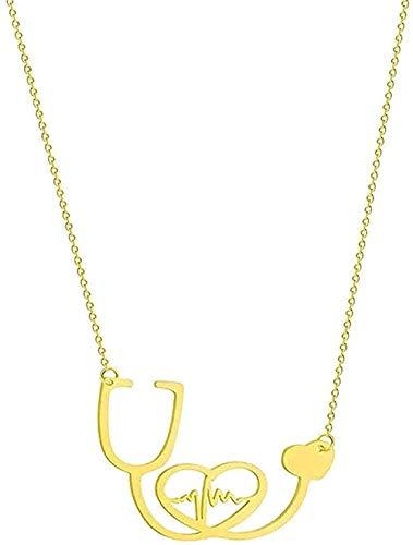 huangshuhua Collar de Acero Inoxidable para Mujer, Collar con Forma de Girasol, Infinito, Lobo, León, Paloma, pájaro, Colgante de Amor, Collar, joyería