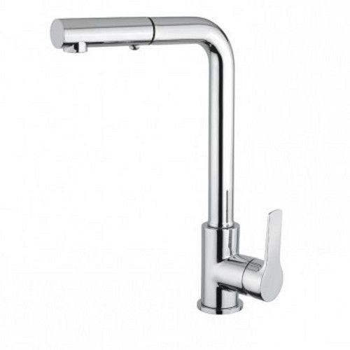Miscelatore cromato per lavello con doccia estraibile a 2 getti K125LCR Khuga Gaboli