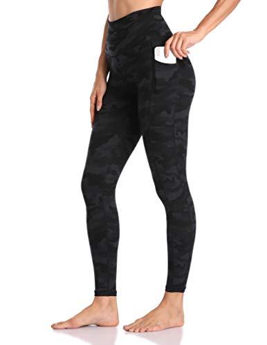 Colorfulkoala Women's High Waisted Yoga Pants 7/8 Length Leggings with Pockets (XS, Deep Grey Camo)