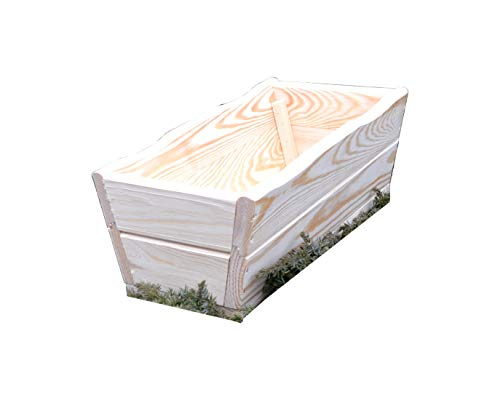 Jardinière en bois brut - Pour jardin et terrasse - Modèle D8 - Livrée montée 44 cm Roh
