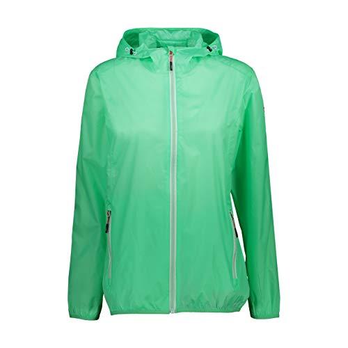 CMP Regenjacke mit Fester Kapuze Rain Jacket Damen Gr. 44, minzgrün