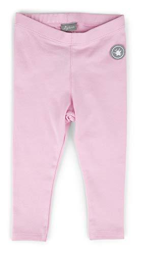 SIGIKID Baby - Mädchen Leggings einfarbig aus Bio-Baumwolle, Rosa, 92
