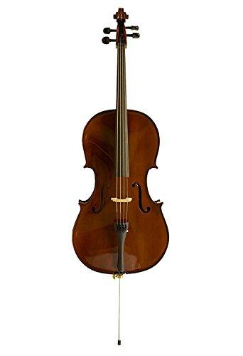 Sinfonie24 Cello Set Größe 4/4, Hamburger Geigenbau Manufaktur, lebhafter, warmer, runder Klang, (Basic II) Tasche, Bogen, Kolophonium, palisanderfarben, akustisch