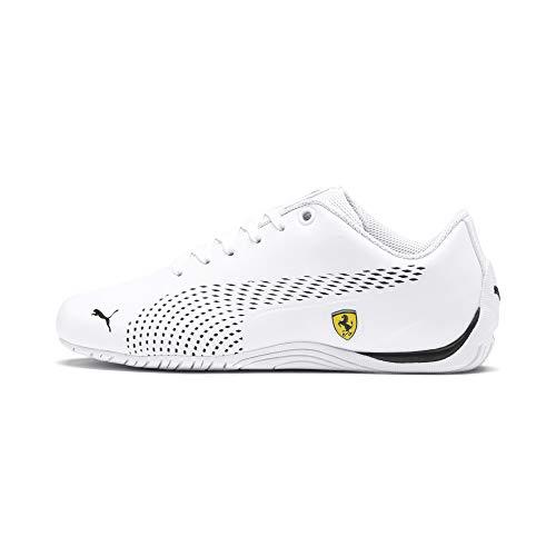 PUMA Ferrari Drift Cat 5 Ultra II Youth Sneaker Puma White-Puma Black UK 6_Youth_FR 39