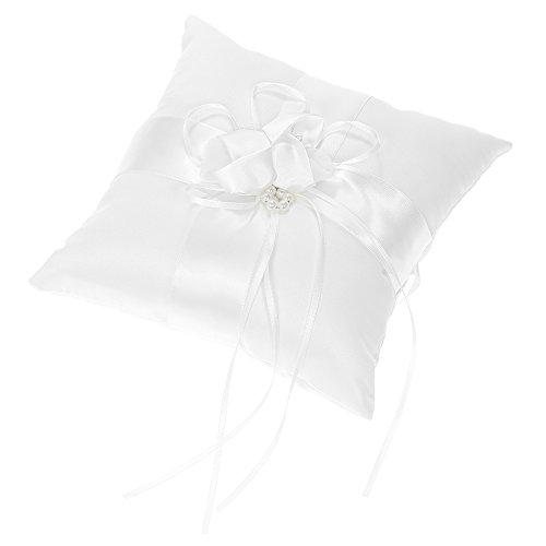 Decdeal - Cojín para Anillo, Blanco, 20 x 20 cm (Flor)