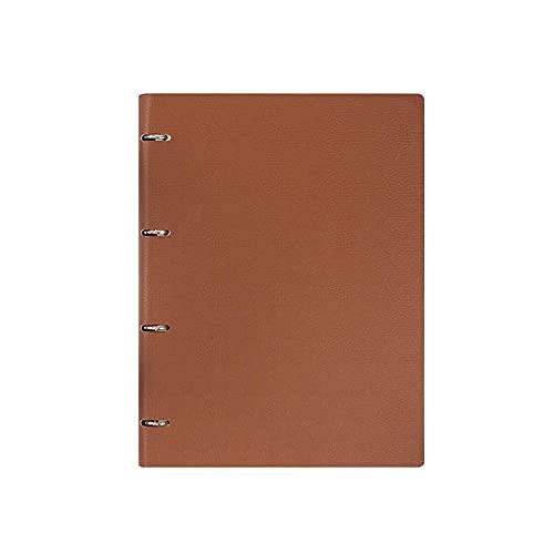 JUGTL Cuaderno Para A4 Libro De Hojas Sueltas Engrosado Ruled Diario Negocios A5 Simple B5 Reunión Libreta Notas Marrón A5 160*230mm