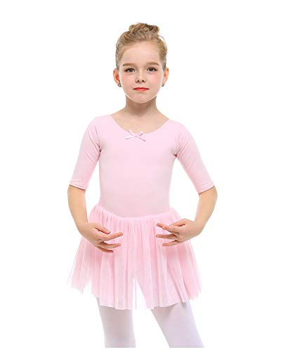 STELLE Toddler/Girls Cute Tutu Dress Ballet Leotard for Dance, BP, XS(3Y)