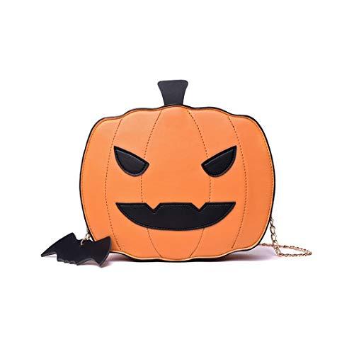 Fusanadarn Halloween Party Tasche Kürbis Tasche Candy Bag niedliche Tote Satchel Schulter Crossbody Handtasche Clutch Geldbörsen for Kinder Frauen (Color : Brown)