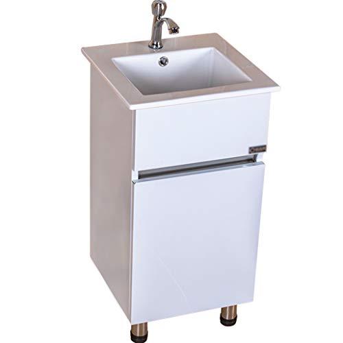 LCF Witte teteporseleinen keramische badkamerhouder voor badkamer en badkamer gecombineerd individuele kleine badkamer, verstelbare ingebouwde shingle