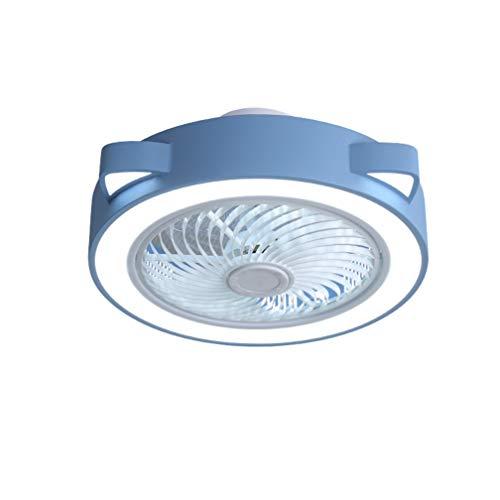 SYXBB-Lampe Dibujos Animados Diseño Ventilador Ajustable de 3 velocidades Luz de Techo LED Moderno LED Ventilador de Techo con iluminación Ultra-silenciosa Ventilador Invisible Luz de Techo