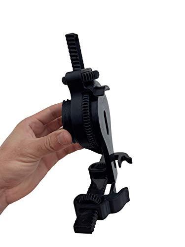 Suporte Celular Suporte Adaptador Universal Celular Regulável Telescópio Microscópio (Preto)