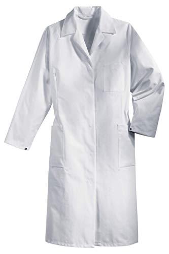 Uvex 81510 werkmantel voor dames - lange werkkiel van 35% katoen - te gebruiken als dokterskittel of laboratoriumkiel - wit